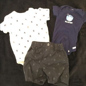 Other - Newborn set 2 short sleeve onesies with shorts